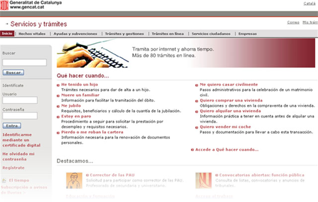 Portal de la Generalitat de Catalunya