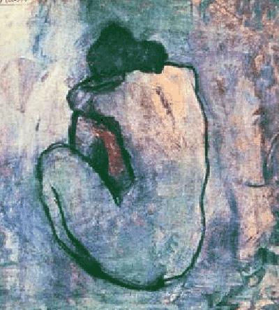 Pablo R. Picasso (1881-1973). Blue Nude (1902).Nota legal: esta imagen se reproduce acogiéndose al derecho de cita o reseña (art. 32 LPI) y está excluida de la licencia por defecto de estos materiales.