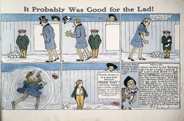 Cómic de 1928. Richard Felton Outcault (1863-1928).Nota legal: imagen bajo dominio público.