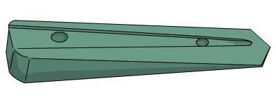 Imatge d'un tascó, eina emprada per a l'escriptura cuneïforme