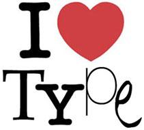 Adaptació molt particular del famós logotip I love NY creat el 1977 per Milton Glaser, destacat dissenyador gràfic i també creador d'algunes tipografies, com la Glaser. Nota legal: © UOC. Creative Commons Reconeixement Compartir Igual 3.0-es. Ferrer (2009). A. I love type.