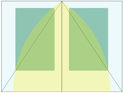 Per una forta tradició medieval, encara s'apliquen les proporcions àuries en la composició dels llibres. Nota legal: imatge sota domini públic procedent de wikimedia commons publicada per Jossifresco (2006).