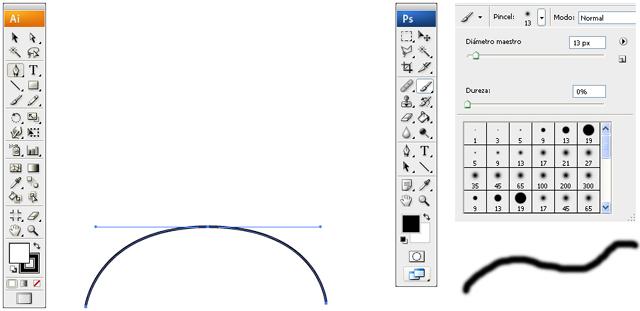 La ploma Bézier i el pinzell de píxels són el paradigma de dues maneres de treballar diferents.