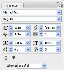 Propietats de text en l'Illustrator