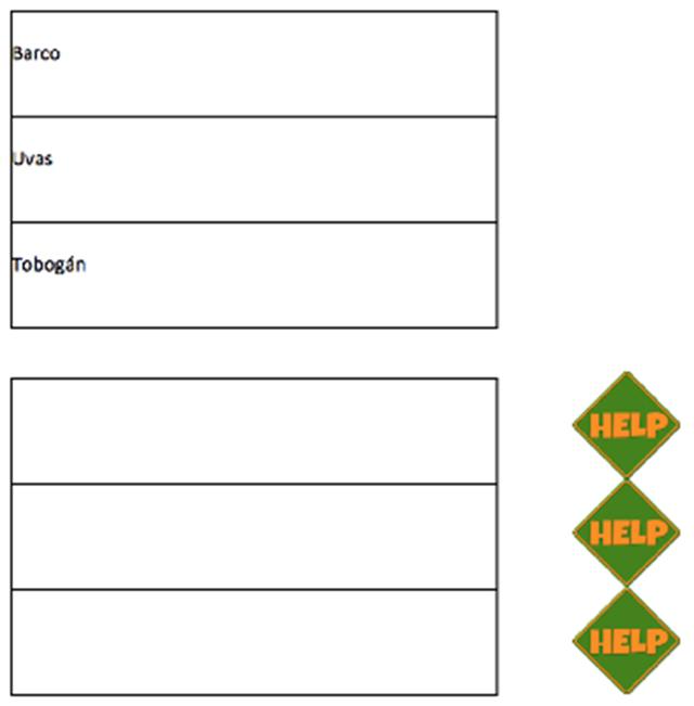 Figura 10. Lista de palabras